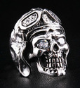Aviator WW2 Skull Ring