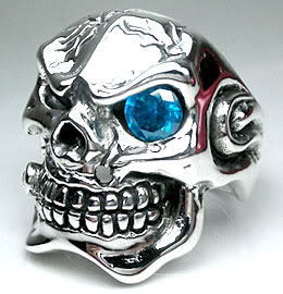 Fat Pipe Skull Ring - Click Image to Close