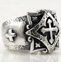 Medieval Cross Ring