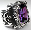 Dragon Claw Amethyst Ring