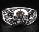 Gothic Diamond Skull Ring