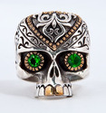 Tribal Maya Skull Ring