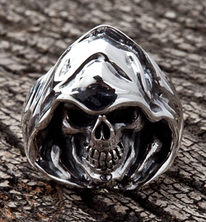 Grim Reaper Skull Ring - Click Image to Close