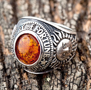 Amber Lucky Charm Ring