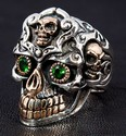 Tribal Maya 2 Skull Ring