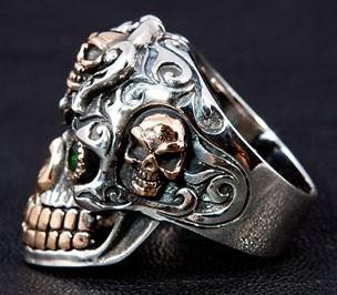 Ring silber totenkopf